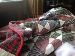 Curled up in Quilts